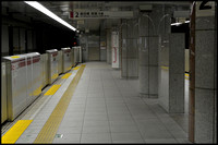 Empty subway station