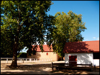 Stables and trees