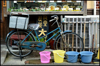 Bicycle and buckets