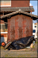Shed and barrow