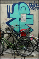 Bicycles and grafitti 2