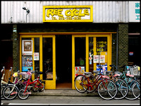 Second hand bicycle shop