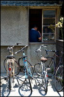 Bicycles outside bar