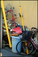 Scrapped bicycles