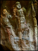 Laerge warrior inside cave