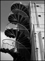 Spiral stairs BW