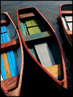 Colored dinghys