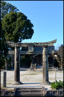 Local shrine torii
