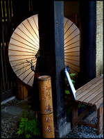 Umbrella lamp and bamboo lamp