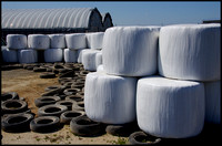 Bales and tires