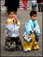 Two boys at shrine