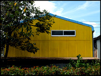 Yellow shed, riverside factory