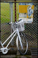 Bike and sign