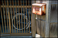 Bicycle and letterbox