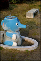Elephant drinking fountain