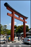 Torii and bicycle