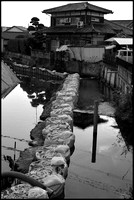 Canal bagging B&W